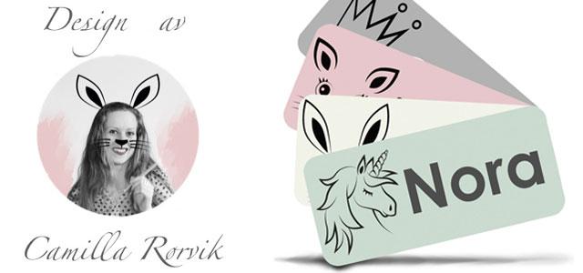 Exklusiva namnlappar till märkning av kläder och tillhörigheter