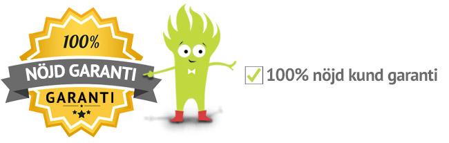 100% NÖJD KUND GARANTI på Smartalappar.se